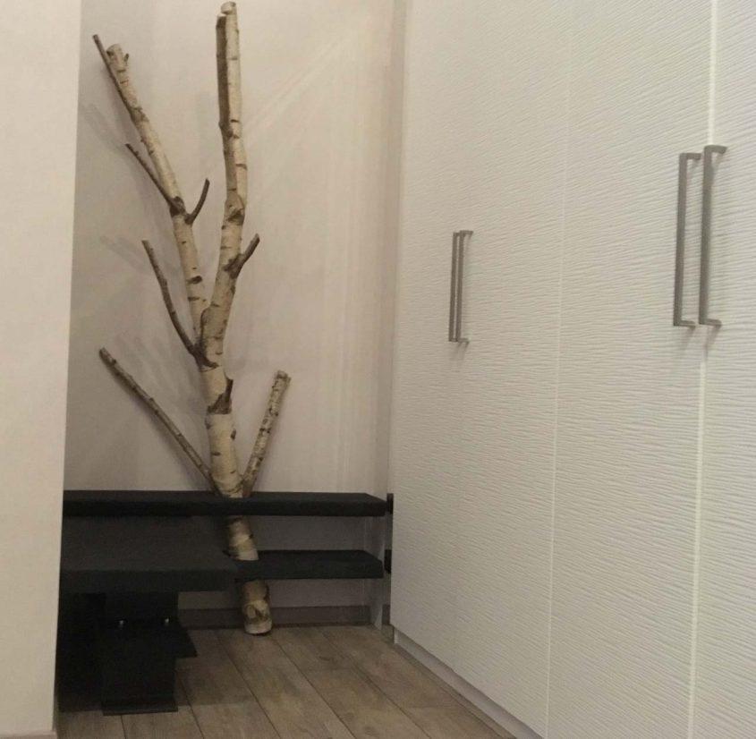 Geköhlte Garderobe Mit Einem Birkenzweig