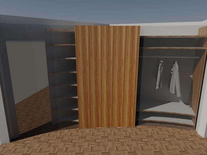 Visualisierung Ankleidezimmer