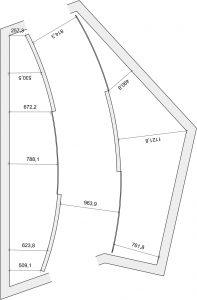 Zeichnung Grundriss Design Ankleidezimmer