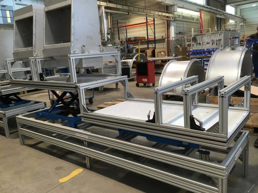Montagetisch höhenverstellbar Vorrichtungsbau OSS